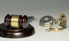 Gavel and pocket watches
