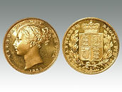 Australia gold proof Sovereign 1880 sold by Suffolk auctioneers Lockdales