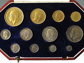 George V Coronation gold and silver Proof set sold at Suffolk auctioneers Lockdales