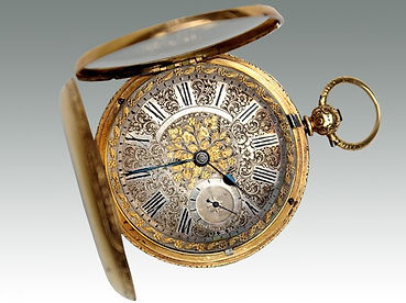 An 18ct gold hunter pocket watch sold at Suffolk auction house Lockdales