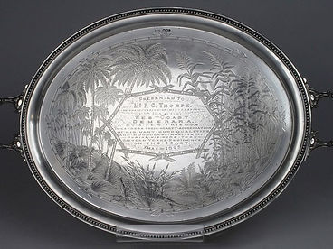 A silver Sheffield hallmarked silver salver sold by Lockdales auction house in Suffolk