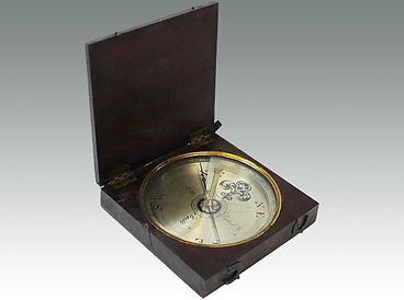 An antique 18th Century Irish maritime navigational compass sold by Suffolk auctioneers Lockdales