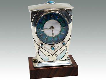 A Liberty & Co. 'Cymric' mantle clock sold in Suffolk auction by Lockdales