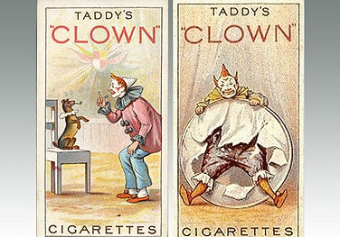 Cigarette cards Clowns and Circus Artistes issued by Taddy, sold at Suffolk auction house Lockdales for £9700