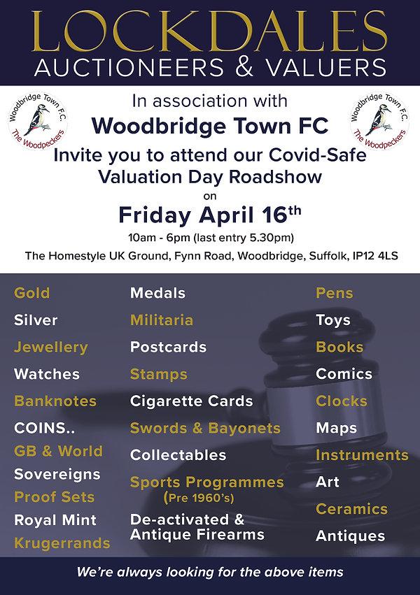 Roadshow valuation Day flyer woodbridge