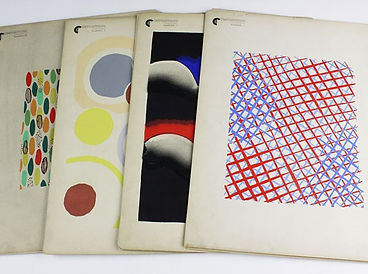 """32 colour plates from """"Compositions, couleurs, Idees by Sonia Delaunay sold by Lockdales auction house in Suffolk"""