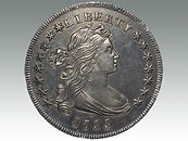 USA Draped Bust Silver Dollar 1795 sold by Suffolk auction house Lockdales