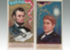 Duke & Sons antique cigarette cards of Great Americans sold at Lockdales auction house in Suffolk