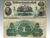 The Royal Canadian Bank One Dollar, 1865, sold by Suffolk auctioneers Lockdales