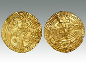 Hammered Coin Gold Angel of Edward IV or V sold by Lockdales Suffolk auction house