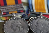 Queen's South Africa medal and WWI BWM British War Medal