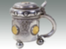 An 18th Century Russian silver tankard sold by Suffolk auctioneers Lockdales