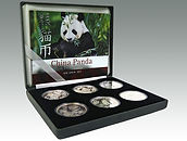People's Republic of China, set of six ounce silver Pandas, sold in Lockdales Suffolk auction house