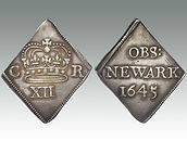 Hammered coin Charles I, English Civil War, Siege of Newark, sold by Suffolk auction house Lockdales