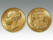 Queen Victoria shield-back gold Sovereign sold by Suffolk auctioneers Lockdales