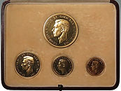 George VI Coronation Gold Proof Set 1937, sold by Suffolk auctioneers Lockdales