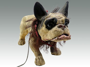 A 19th century papier-mache bulldog toy by Rouets et Decamps sold in Lockdales Suffolk auction