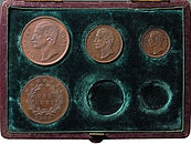Sarawak, Rajah C. Brooke Proof Set 1870 sold in an auction in Suffolk