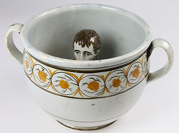 Georgian pearlware chamberpot sold at Lockdales Suffolk auction house