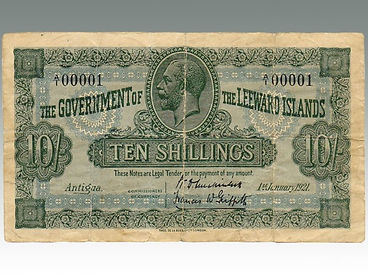 Leeward Islands 10 Shillings 1st January