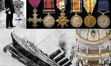 The medals of Commander William Thomas Turner captain of the RMS Lusitania sold by militaria auction specialists Lockdales