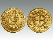 Hammered coin of Frisian or Anglo-Saxon gold solidus sold by specialist coin auction house Lockdales