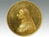 Queen Victoria Golden Jubilee 1887, Royal Mint gold medallion sold by Suffolk auction house Lockdales