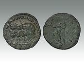Carausius 'dynastic propaganda' triple-portrait ant of Colchester Mint by coins auctions specialist Lockdales