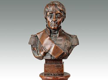 Bust of Admiral Lord Nelson sold by Suffolk auctioneers Lockdales