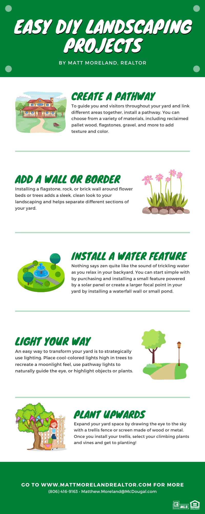 Infographic - Easy DIY Landscaping Projects by Matt Moreland, Realtor