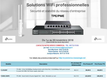 Promotion de Novembre TP-Link : Solutions WiFi pour TPE/PME