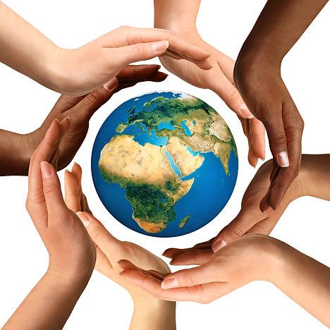 Conceptual symbol of multiracial human h