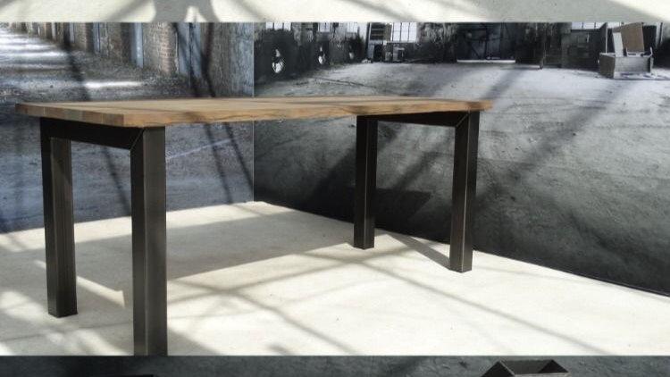 Industriële stalen tafelpoten
