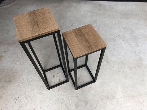Stalen bijzet tafel