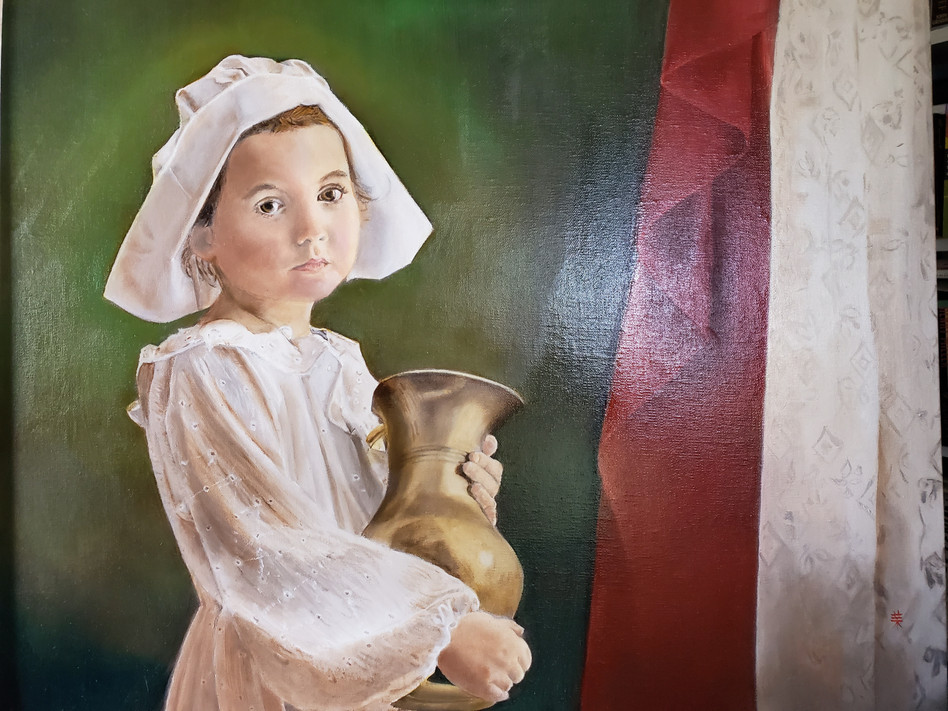 Girl with pitcher
