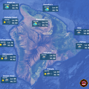 Hawaii Island Weather Outlook for May 8th, 2021