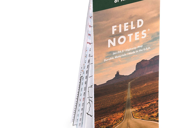 Field Notes National Highways Map
