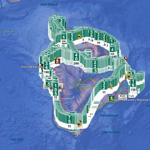 Island of Hawaii Mile Marker Map Notice # 2 for February 23rd, 2021