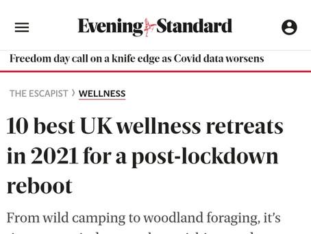 """Evening Standard """"10 best UK wellness retreats 2021"""""""