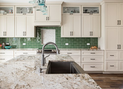 traditional painted glass cabinets
