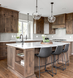 shaker custom stain solid wood cabinets