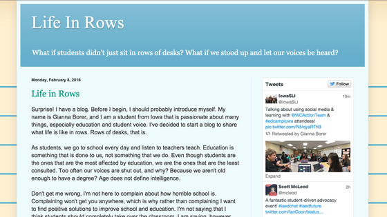Guest Writer: Life In Rows
