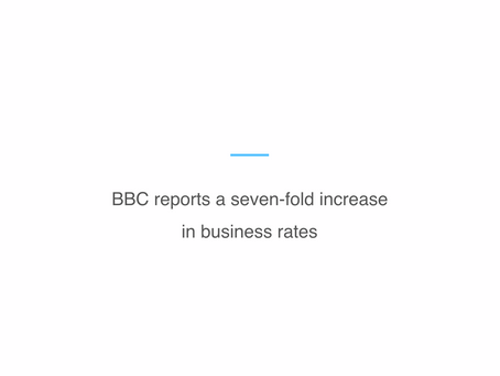 BBC reports a seven-fold increase in business rates