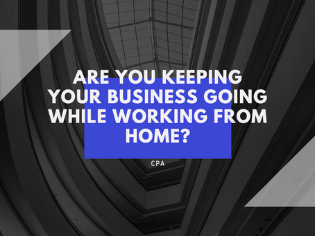 Are you keeping your business going while working from home?