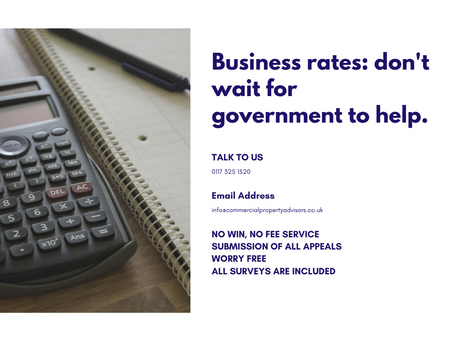 Business rates: don't wait for government to help.