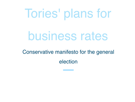 Tories' plans for business rates given a cautious welcome.