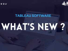Tableau software:  What's new?