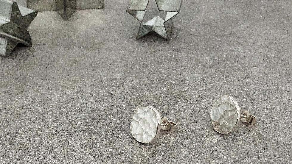 Full Moon Textured Stud Earrings