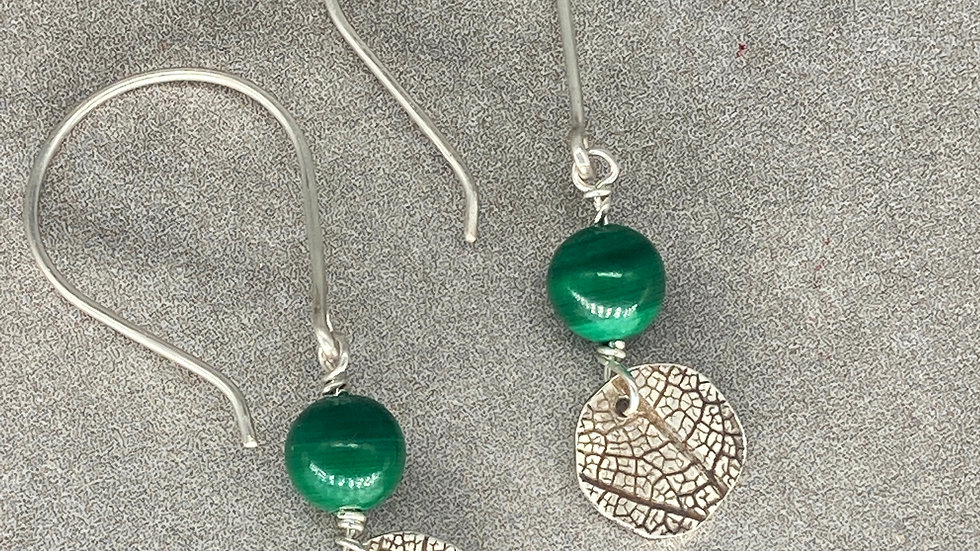 Malachite Leaf Earrings