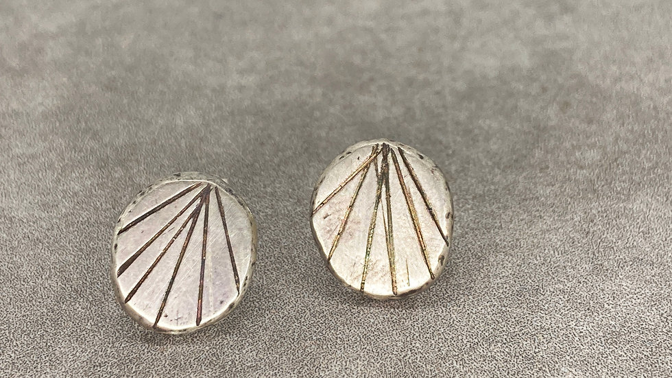 Geometric Recycled Studs - silver